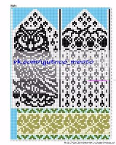 УЮТНОЕ МЕСТО ●Вязание● Owl Knitting Pattern, Knitted Mittens Pattern, Intarsia Patterns, Owl Patterns, Bead Loom Patterns, Knit Mittens, Knitting Charts, Knitting Socks, Beading Patterns