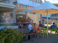 We had a coffee at the Oceanic Gelati Shop, Point Lookout. A great view of the water from there. Point Lookout, Sand Island, Stradbroke Island, Great View, Holiday Destinations, Gelato, Favorite Holiday, The Locals, Things To Do