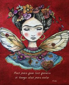 Frida Kahlo cotización lámina pasteles para los por claudiatremblay