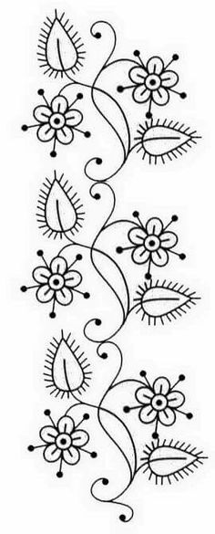 Free Hand Embroidery Patterns For Pillowcases; Free Hand Embroidery Transfer Patterns or Free Mexican Hand Embroidery Patterns Embroidery Designs, Ribbon Embroidery, Cross Stitch Embroidery, Machine Embroidery, Simple Embroidery, Indian Embroidery, Hand Embroidery Patterns Free, Embroidery Digitizing, Embroidery Tattoo