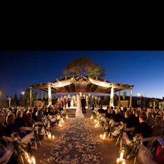 good idea for a night beach wedding!!