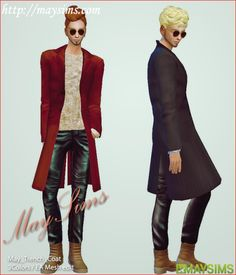 Sims 4 Trench_CoatFor male top / 3ColorsOriginal creator : EA mesh editmaysims(http://www.maysims.com)Follow us & check new items (http://maygamestudio.tumblr.com/)please '♥' or 'Reblog', if you like it. thank you >3<Download link