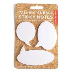 Sticky Notes Talking Bubble. Haftnotizblöcke in Form einer Sprechblase.