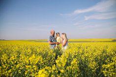 Family Session in Saskatchewan Canola Fields | Jenn Blake Photography