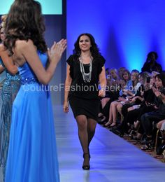 Lebanese designer Mireille Dagher at Couture Fashion week New York