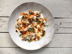 Turkish Manti with Lamb, Garlic Yoghurt and Spiced Butter - Food Stories - Helen Graves