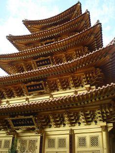 A Golden Pagoda,Cheongju, South Korea