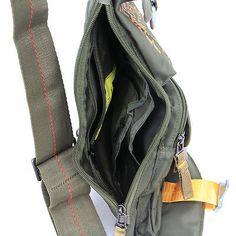 4468b36a621 Men women's outdoor Sport durable Chest bag Sling bag for tablet PC black  green | eBay
