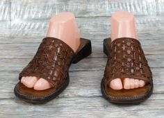 6f701b840151 Cole Haan Country Slides Sandals Womens Size 8.5 B Brown Woven Leather  Shoes  ColeHaan