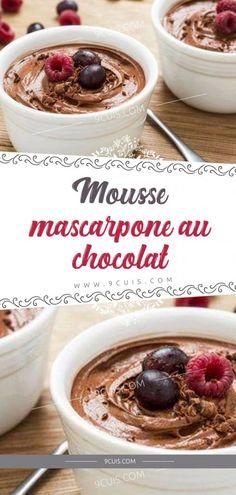 Mousse mascarpone au chocolat – 9 Cuisine