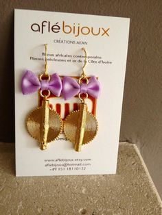 Aflé Bijoux  Lila Satin Bow  Earrings by AfleBijoux on Etsy
