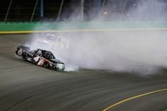 Bell spins, wins NASCAR Camping World Truck Series Buckle Up in Your Truck 225