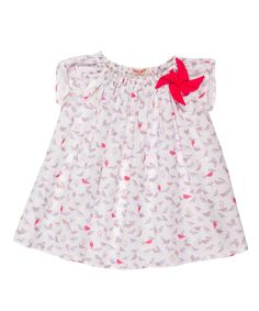 Je Suis en CP   White & Pink Windmill Blouse - Infant, Toddler & Girls