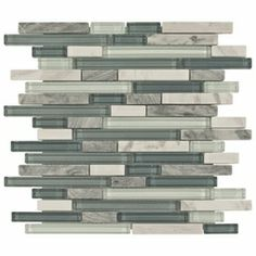 Would love a stripe of this mixed with stone for kitchen back splash and then this on fire place!