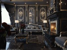Gothic Interior, Gothic Home Decor, Luxury Homes Interior, Victorian Gothic Decor, Victorian House Interiors, Palace Interior, Mansion Interior, Vintage Interiors, Victorian Houses