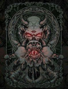 Pin by melissa on art i like ☮ in 2019 arte oscuro, arte mac Arte Horror, Horror Art, Tatoo Art, Body Art Tattoos, Skull Tattoos, Dark Fantasy Art, Dark Art, Tattoo Hals, Satanic Art