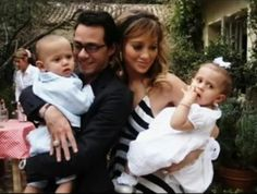 Jennifer Lopez, Marc Anthony, and their cute kids Max and Emme