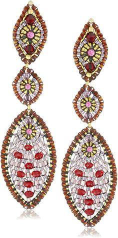 Amazon.com: Miguel Ases Rubellite Quarz Multi Marquis Drop Ohrringe: Jewelry Resin Jewelry, Diy Jewelry, Handmade Jewelry, Fashion Jewelry, Jewellery, Gemstone Earrings, Drop Earrings, Brick Stitch, Metal Stamping