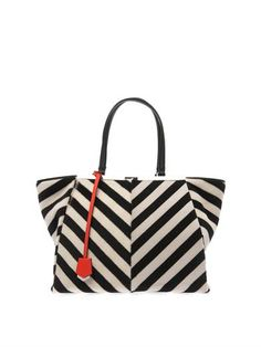 3Jours trapeze wing calf-hair tote | Fendi | MATCHESFASHION.COM