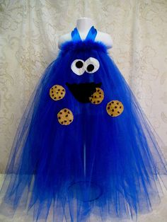 Custom Order for Jen  Cookie Monster Tutu Halter by cd1ofakind