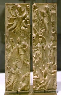 Muses, ivory diptych, 5th c.