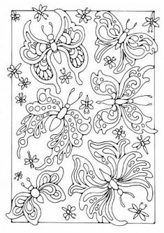 Coloring page butterflies - coloring picture butterflies. Free coloring sheets to print and download. Images for schools and education - teaching materials. Img 18699. by Elaine57