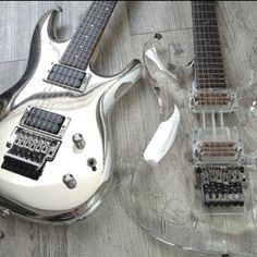 Ibanez JS10th and JS2K electric guitars.  From the Joe Satriani Signature Series.