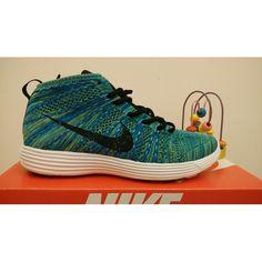 buy online 4a819 0c7ee Nike Free Flyknit Chukka Billig Ny Herr Shoes Blå Grön