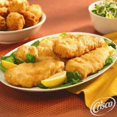 Crunchy Fried #Fish from Crisco®. Ready in under 20 minutes!