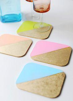 DIY Colorblock Coasters
