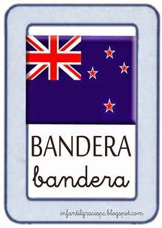 INFANTIL de GRACIA: SYMBALOO Y TARJETAS DE VOCABULARIO SOBRE NUEVA ZELANDA Calm, Teacher, Artwork, World, New Zealand, Flags, Vocabulary, Serif, Cards