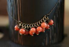 Orange Jade Necklace Sophie par Karoonaccessories sur Etsy, $14.00