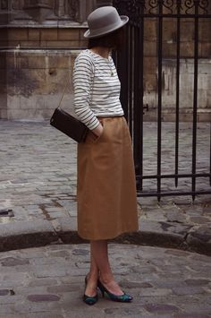 Controversial but I like it. Culottes and a grey felt hat.