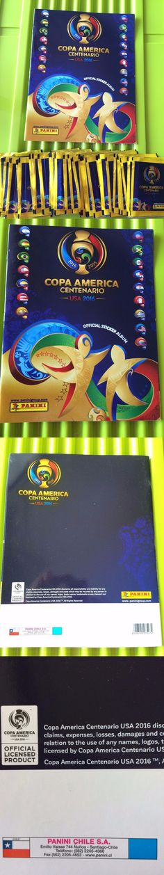 Sports Stickers Sets and Albums 141755: Panini 2016 Copa America Centenario 50 Packs (250 Stickers) + Album Chile -> BUY IT NOW ONLY: $55 on eBay!