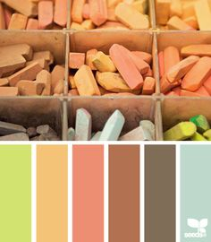 pasteled hues--absolutely love this! I think it might be the colours of the bedroom in our new house!