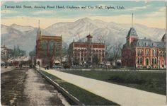 Twenty Fifth St Showing Reed Hotel Orpheum City Hall Ogden Utah 1913 Ogden   eBay