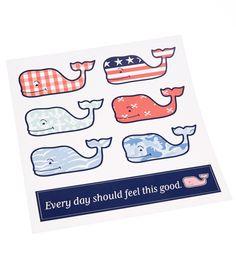 Vineyard Vines Assorted Whale Sticker Pack