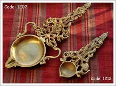 Traditional Indian brass lamps/ diyas