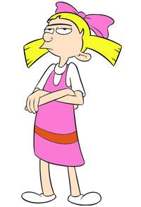 """Helga Geraldine Pataki - Hey Arnold! Helga could be classified as a tomboy, as evidenced by her interest in playing contact sports alongside her male classmates, blatant lack of femininity, and disregard/dislike for stereotypical female behavior, as seen in the episode """"Helga's Makeover"""". Helga displays a remarkable gift for poetry, and is able to create, often on the spot, dramatic soliloquies expressing a situation or feeling with an impressive use of vocabulary, especially for someone her…"""