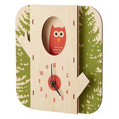 TREE OWL CLOCK   Wooden Animal Clock   UncommonGoods