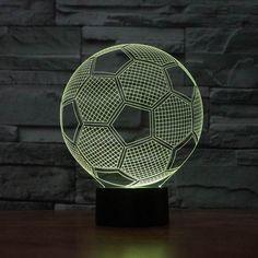 3D Soccer Ball Lamp