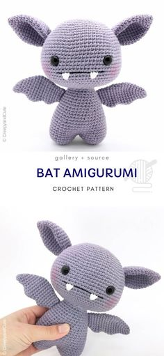 Cute Bat Amigurumi gift toy ready for children. Have you ever seen a crochet vampire bat? You have a chance now! It perfectly fits the Halloween theme but it's not scary at all! patterns amigurumi free LIttle Ami Bats Crochet Pour Halloween, Halloween Crochet Patterns, Crochet Mignon, Halloween Themes, Halloween Decorations, Halloween Porch, Halloween Birthday, Halloween Halloween, Halloween Costumes
