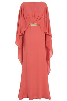 Cape Style Georgette Gown By ELIE SAAB @ http://www.boutique1.com/