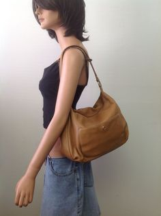 Talbot Leather Hobo Bag Purse Camel Designer Fashion Brown Women Accessories #Talbot #Hobo