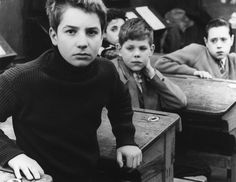 Jean-Pierre Léaud in THE 400 BLOWS (1959). Directed by Francois Truffaut.