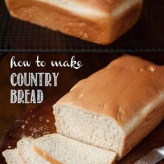 No bread machine required for this recipe. I'll show you how to make sliceable homemade White Bread with a stand mixer and a loaf pan. Easy White Bread Recipe, Homemade White Bread, Easy Bread Recipes, Pan Bread, Loaf Pan, Bagel Ingredients, Country Bread, Dry Yeast, Breads