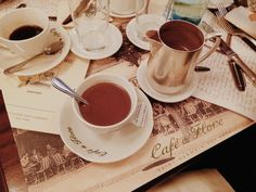 coffee & the best hot chocolate at Café de Flore - 172 Boulevard Saint-Germain