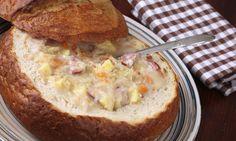 Bramboračka v chlebu