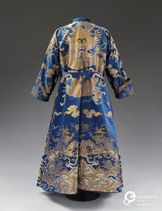 Banyan and waistcoat made from a Chinese dragon robe, Italian, 1780-1810. Courtesy Victoria and Albert Museum, CC BY NC.