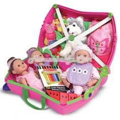 Trunki - Trixie - Pink  Trixie is the original pink Trunki, he was created to beat the boredom so often suffered by travelling tots. Designed to be used as hand luggage, kids can pack Trunki with all their favourite toys then ride off, whilst parents keep them in tow.
